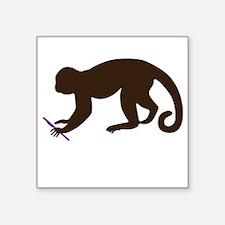 "Annie's Boobs - The Monkey Square Sticker 3"" x 3"""