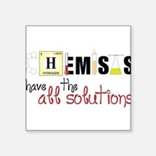 "All The Solutions Square Sticker 3"" x 3"""