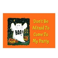 Halloween Invitations Postcards (Package of 8)