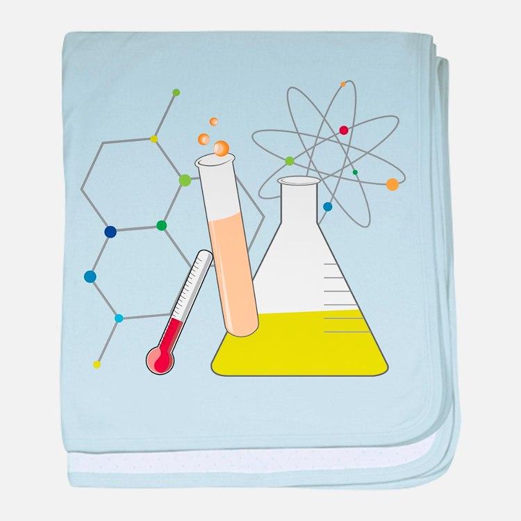 Chemistry Stuff baby blanket