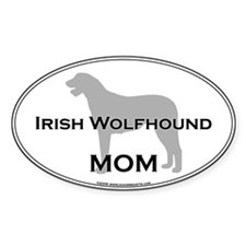Irish Wolfhound MOM Oval Decal