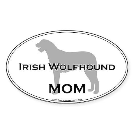 Irish Wolfhound MOM Oval Sticker