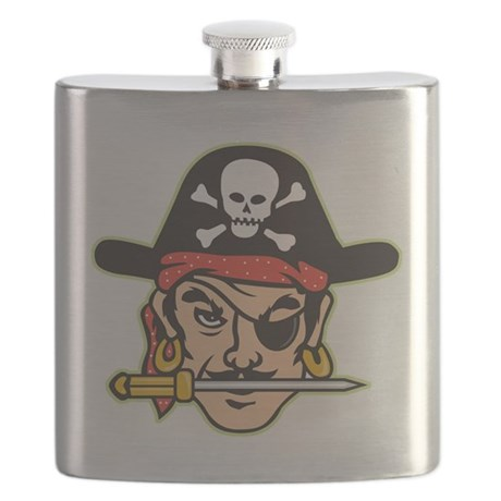 Retro Pirate Flask