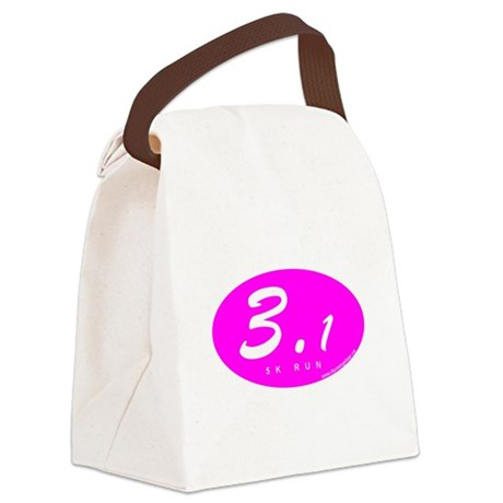 Oval Pink 3.1 Canvas Lunch Bag