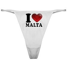I Heart Malta Classic Thong