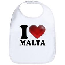 I Heart Malta Bib