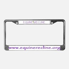 Equine Recline License Plate Frame
