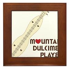 Mountain Dulcimer Player Framed Tile