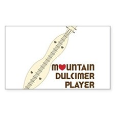 Mountain Dulcimer Player Decal