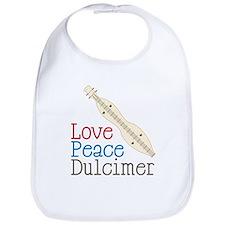 Love Peace Dulcimer Bib