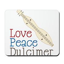 Love Peace Dulcimer Mousepad
