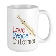 Love Peace Dulcimer Mug