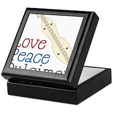Love Peace Dulcimer Keepsake Box