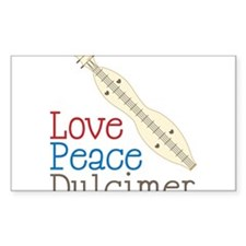 Love Peace Dulcimer Decal