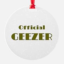 Official Geezer Ornament