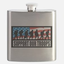 Support our troops - Infantry Flask