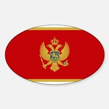 Montenegro - National Flag - Current Decal