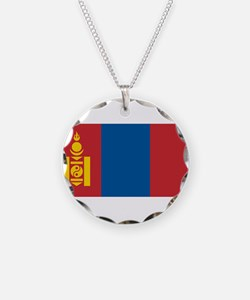 Mongolia - National Flag - Current Necklace