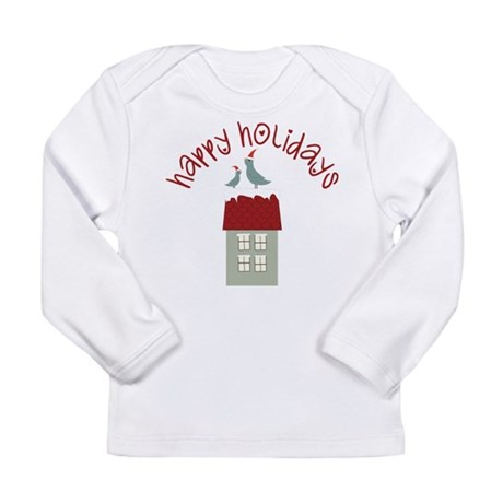 Happy Holidays Long Sleeve Infant T-Shirt