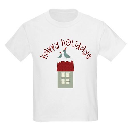 Happy Holidays Kids Light T-Shirt