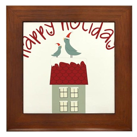 Happy Holidays Framed Tile