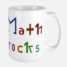 Math Rocks Large Mug