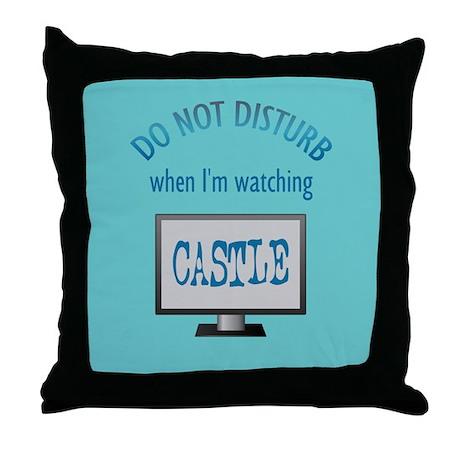 Do Not Disturb Watching Castle Throw Pillow