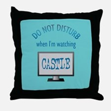 Do Not Disturb Watching Castle Throw Pillow