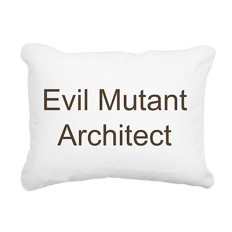 Evil Mutant Architect Rectangular Canvas Pillow