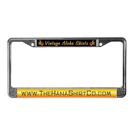 Hana Shirt Co. Tiki style License Plate Frame