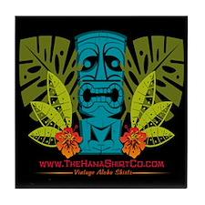Hana Shirt Co. Tiki style Tile Coaster