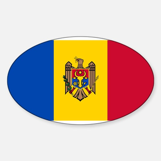 Moldova - National Flag - Current Sticker (Oval)