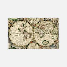Antique Map 3'x5' Area Rug