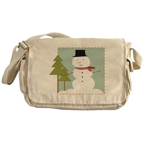 Snowman Messenger Bag