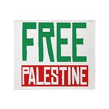 Free Palestine ????? ?????? Throw Blanket