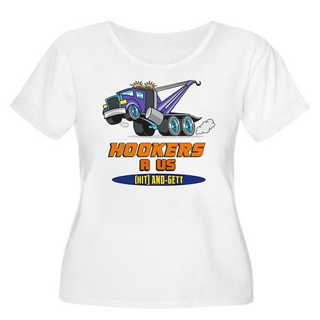 Hookers R Us 2 Women's Plus Size Scoop Neck T-Shir