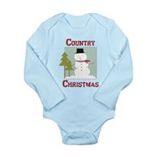 Country Christmas Long Sleeve Infant Bodysuit