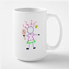 Tennis Girl - ArtinJoy Large Mug