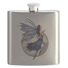 Midnight Blue Fairy Fantasy Art Flask