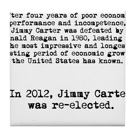 Jimmy Carter Re-elected in 2012 Anti-Obama shirt T