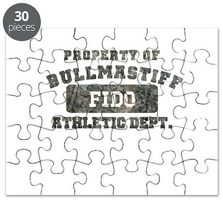 Personalized Property of Bullmastiff Puzzle