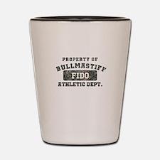 Personalized Property of Bullmastiff Shot Glass
