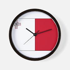 Malta - National Flag - Current Wall Clock