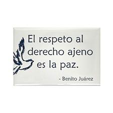 El respeto al derecho ajeno es la paz Rectangle Ma
