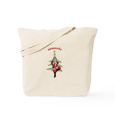 Santa Tree Pose Tote Bag