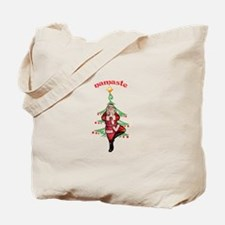 Santa Tree Pose Tote Bag