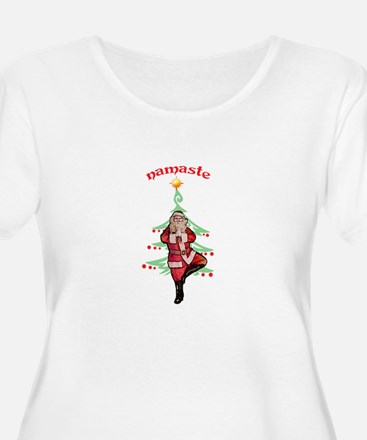 Santa Tree Pose T-Shirt