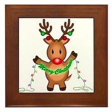 Merry Deer Framed Tile