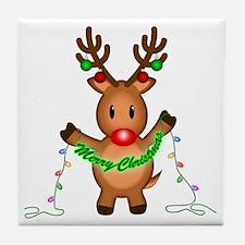 Merry Deer Tile Coaster