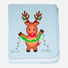 Merry Deer baby blanket
